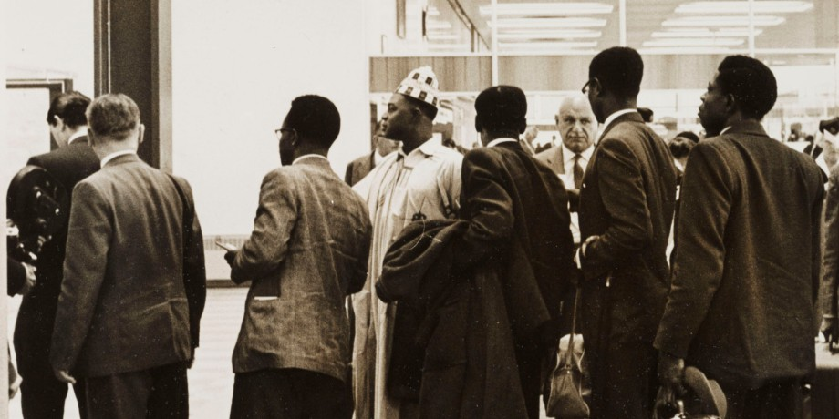 Nigerian immigrants, London Airport, 1 July 1962.