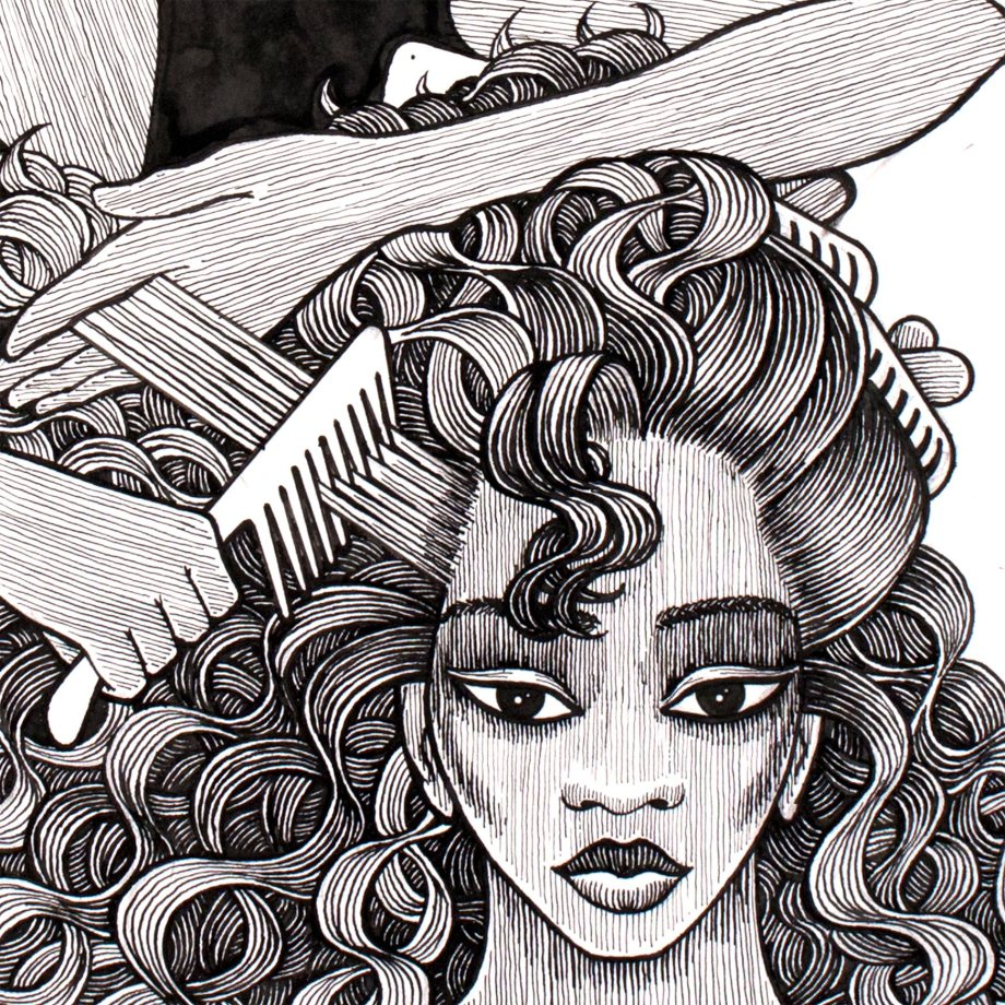 black-hair-salon2-combing-hair-curls-detail