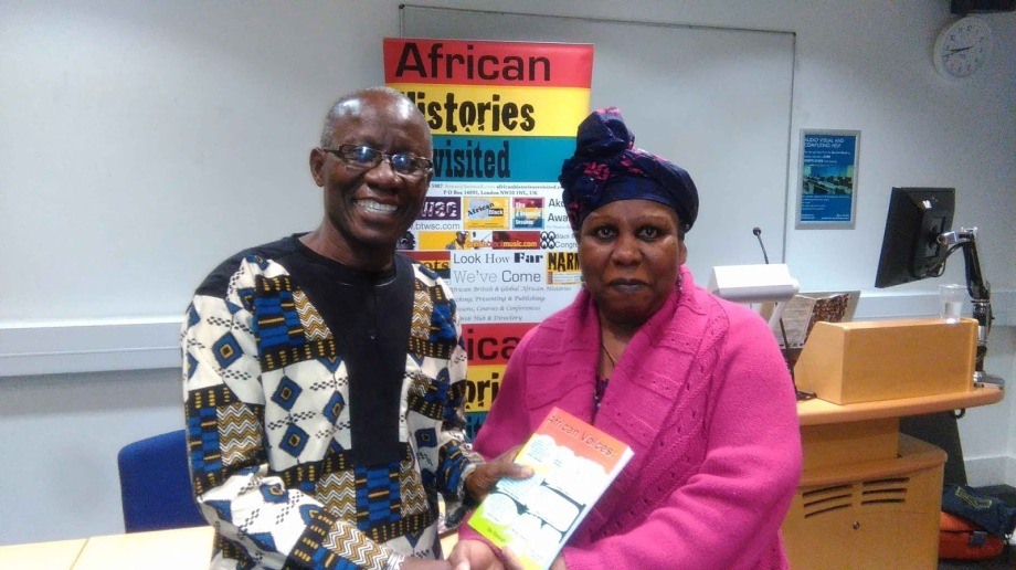 Addai Sebo recives African Voices from Ama Gueye